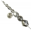 Glass Firepolished Beads Crystal Bronze Half Coat Asst